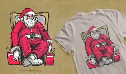 Tired santa t-shirt design