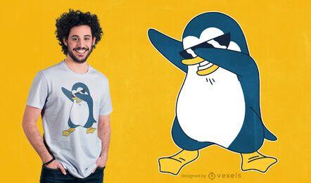 Diseño de camiseta de pingüino dabbing