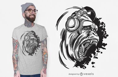 Design de camisetas Dj gorilla