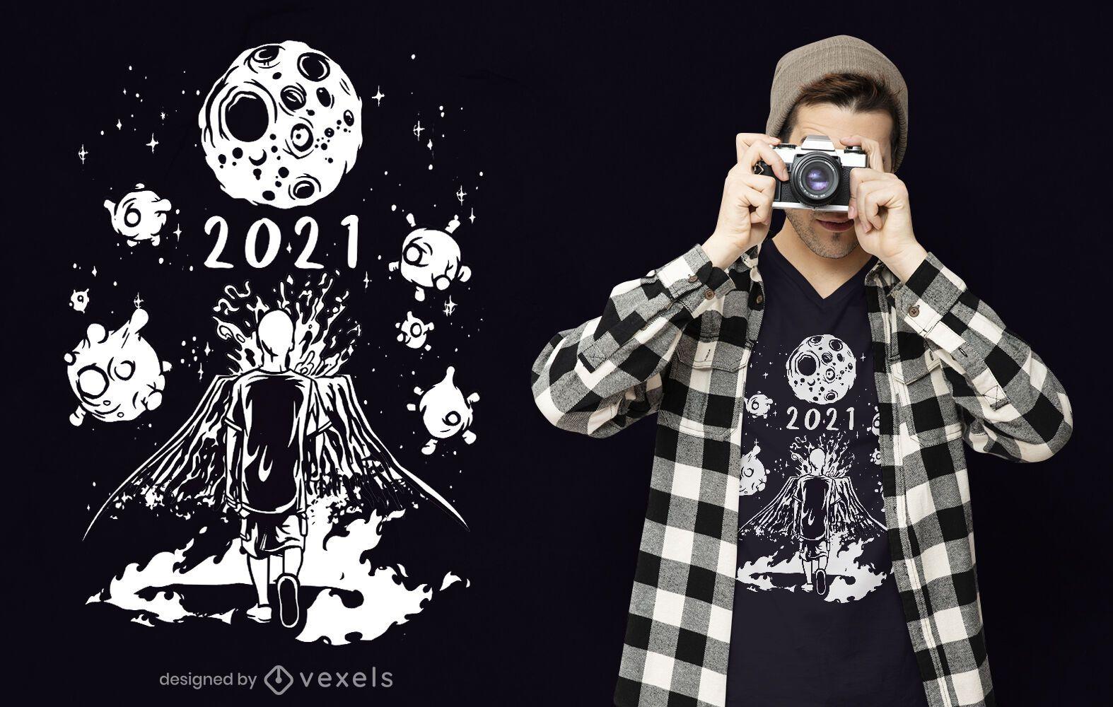 Diseño de camiseta Doomed 2021
