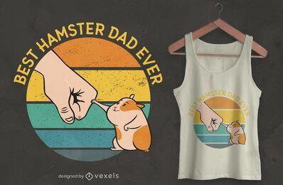 Melhor design de t-shirt do pai hamster