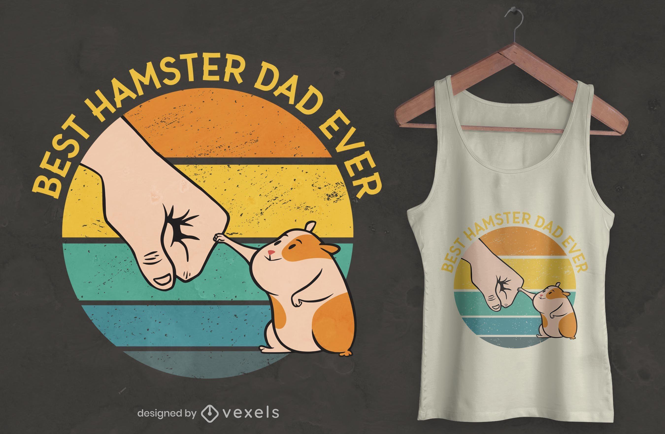 Best hamster dad t-shirt design