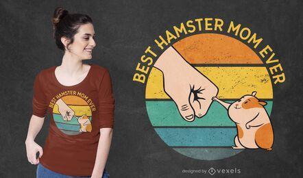 Diseño de camiseta de madre de hámster
