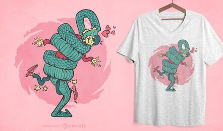 Snake hug t-shirt design