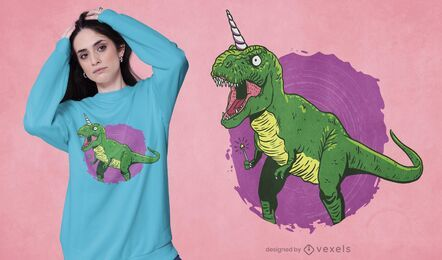 Fairy dinosaur unicorn t-shirt design