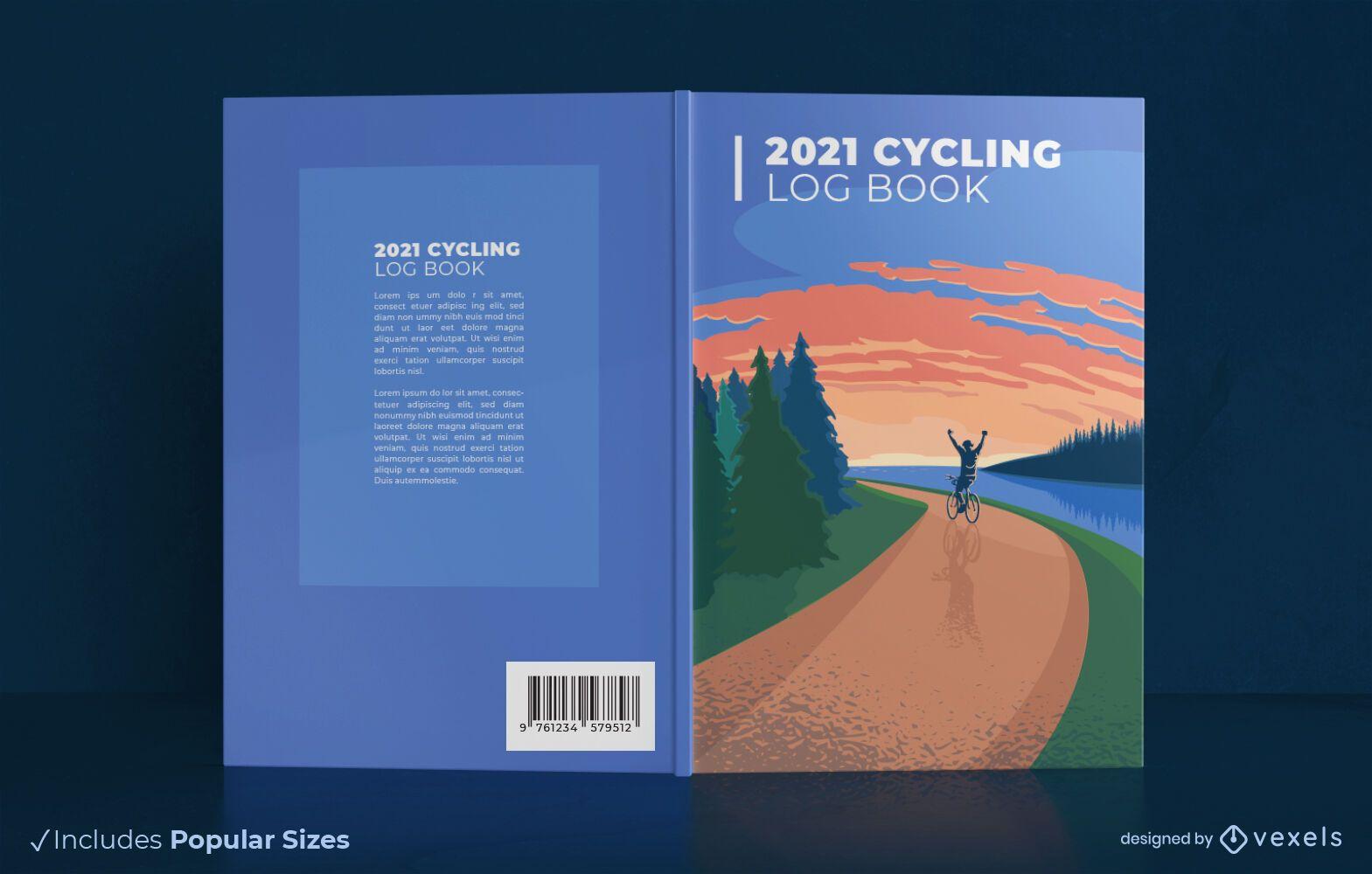 Projeto da capa do diário de bordo de ciclismo de 2021
