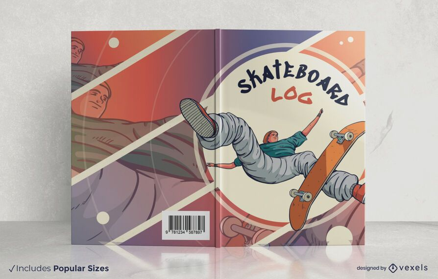 Skateboard log book cover design