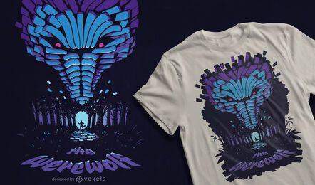 Werwolf Wald T-Shirt Design