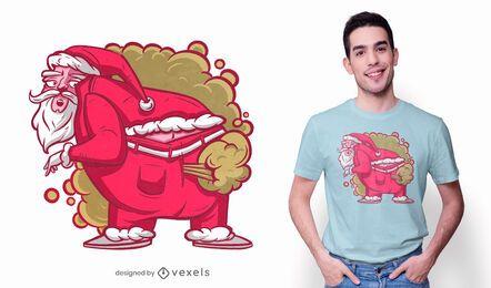 Santa farts t-shirt design