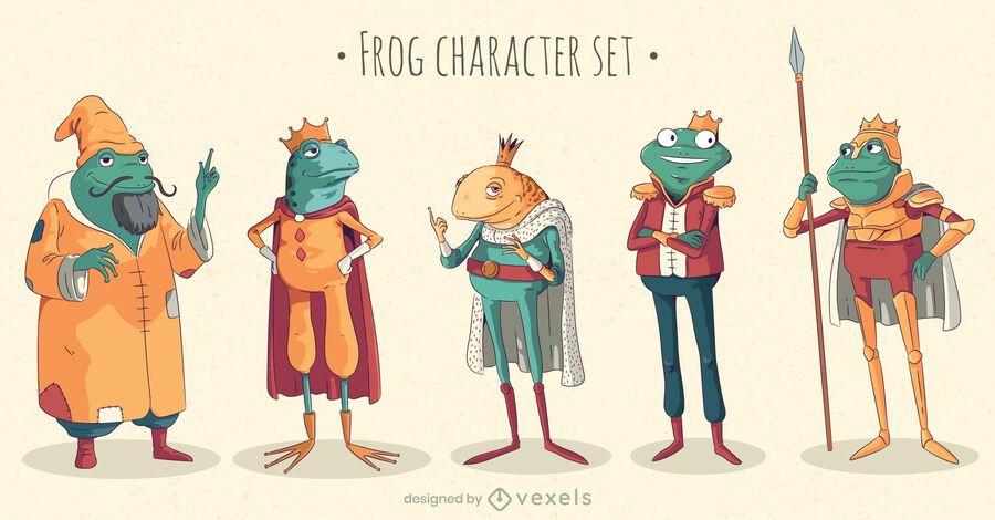 Fairytale frog character set
