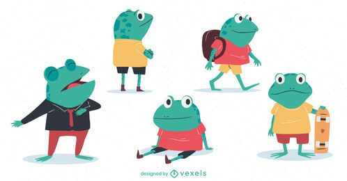 Little frogs character set