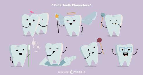 Conjunto de caracteres de diente lindo