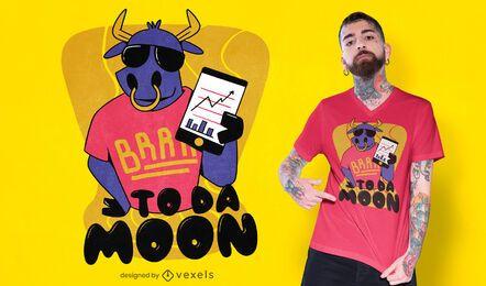 Diseño de camiseta to da moon