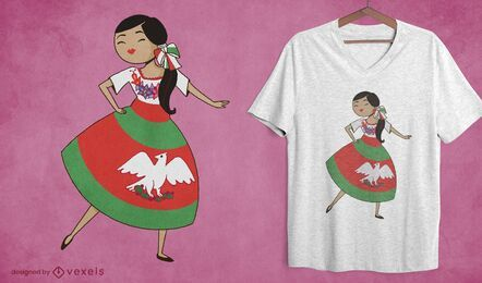 China poblana t-shirt design