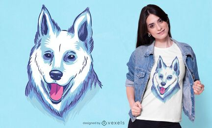 White shepherd t-shirt design