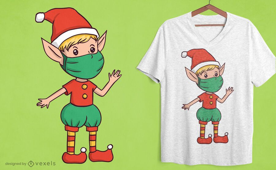 Elf face mask t-shirt design