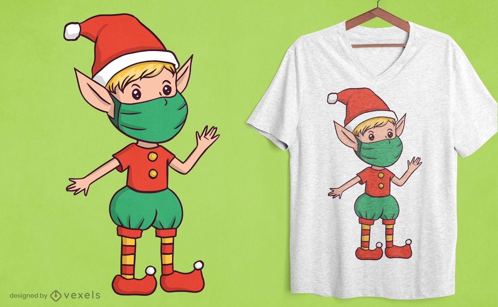 Elf face mask t-shirt design