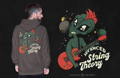 Design avançado de t-shirt de teoria das cordas