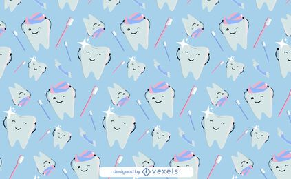Cute teeth toothpaste pattern design