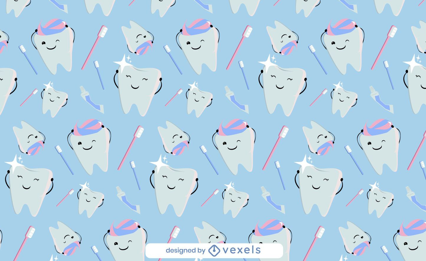 Lindo diseño de patrón de pasta de dientes de dientes