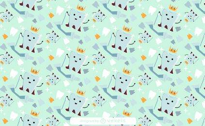 Tooth crown pattern design