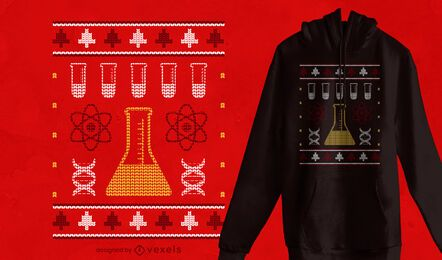 Science ugly sweater t-shirt design