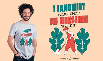Diseño de camiseta de un granjero