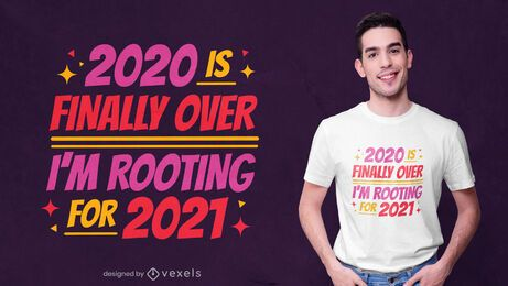 Apoyando el diseño de camiseta 2021