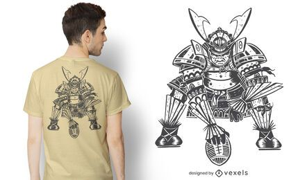 Samurai football t-shirt design