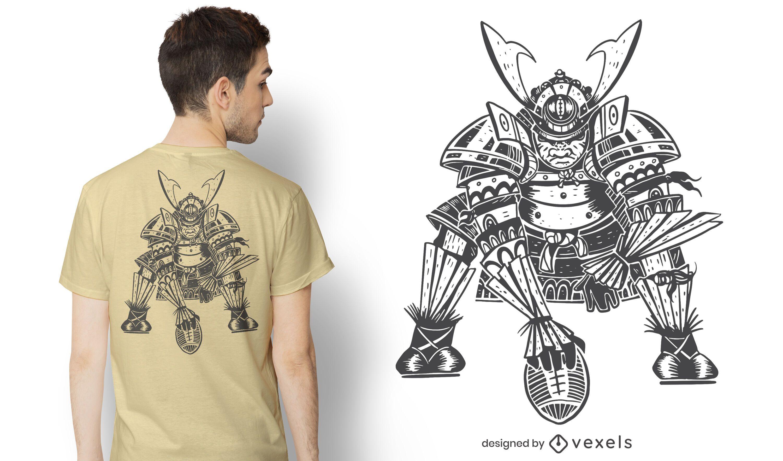 Samurai football t-shirt design