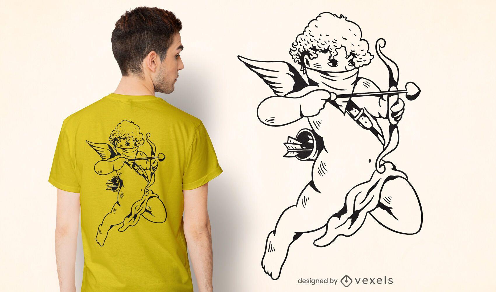 Bandana cupid t-shirt design