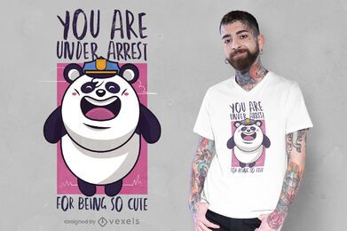 Cute panda police t-shirt design