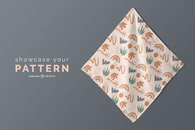 Pattern handkerchief mockup design