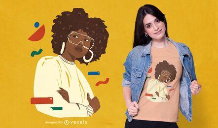 Diseño de camiseta de niña con estilo