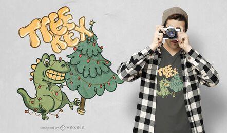 Diseño de camiseta tree rex