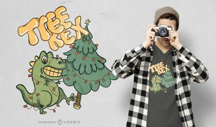 Tree rex t-shirt design