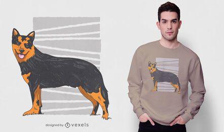 Diseño de camiseta de pastor bávaro