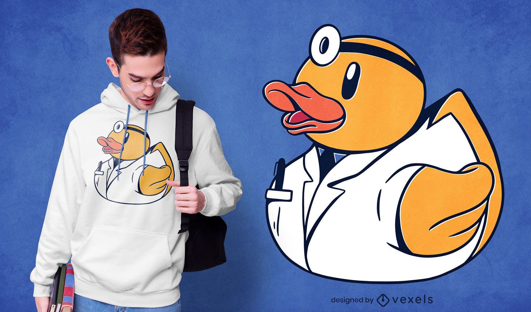 Diseño de camiseta Dr. Rubber Duck