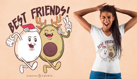 Christmas friends t-shirt design