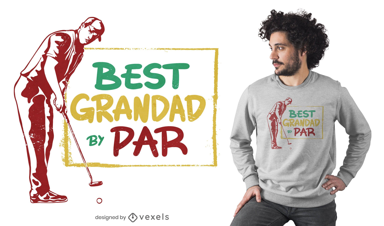 Design de t-shirt do avô de golfe