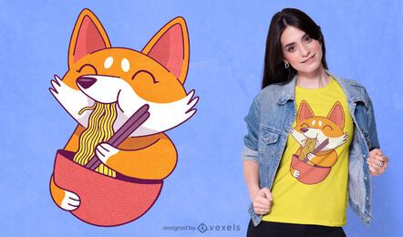 Corgi ramen t-shirt design