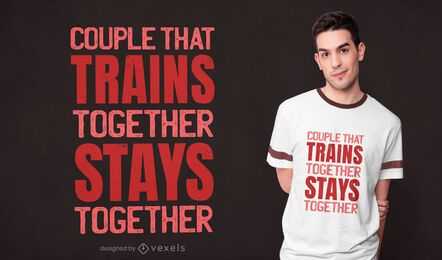 Couple training t-shirt design