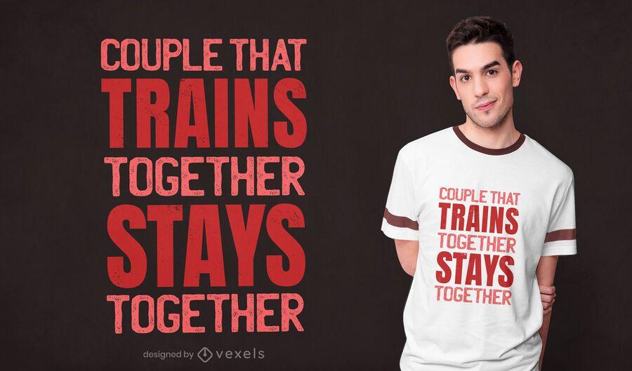 Couple training t-shirt design