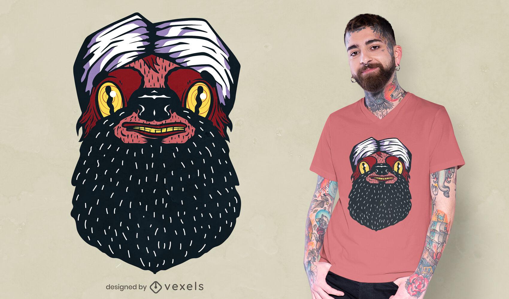 Turban sloth t-shirt design