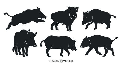Wild boar cut out set