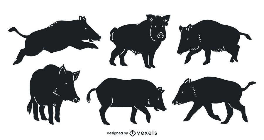 Wild boar cut out set