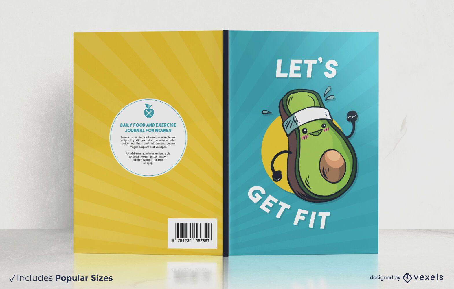 Let's get fit book cover design