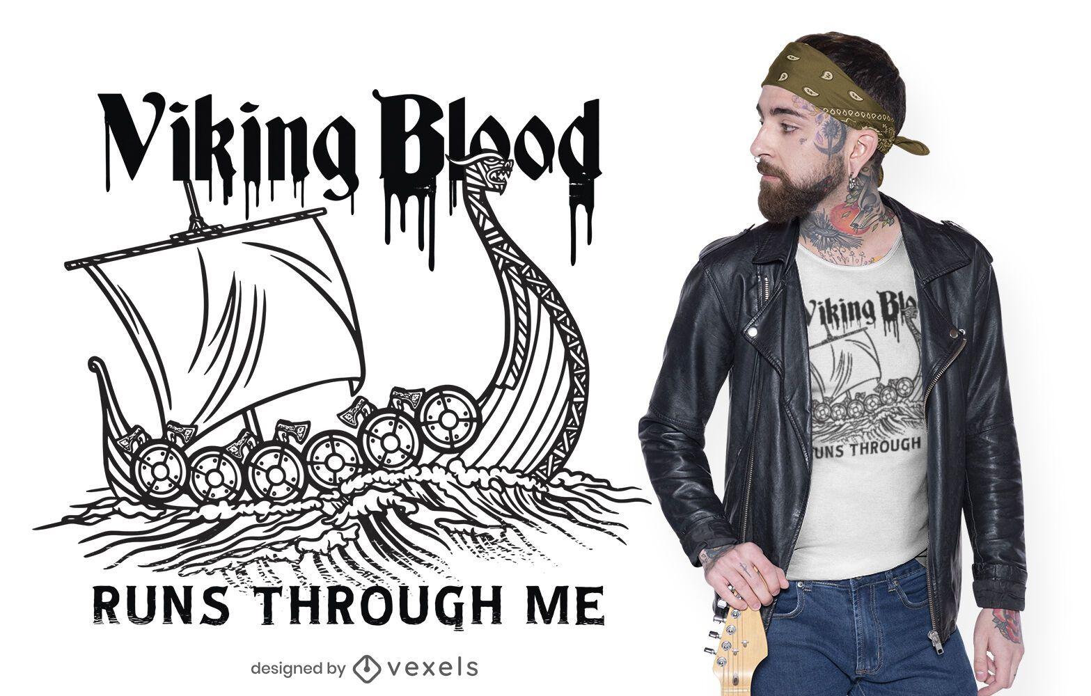 Viking blood t-shirt design