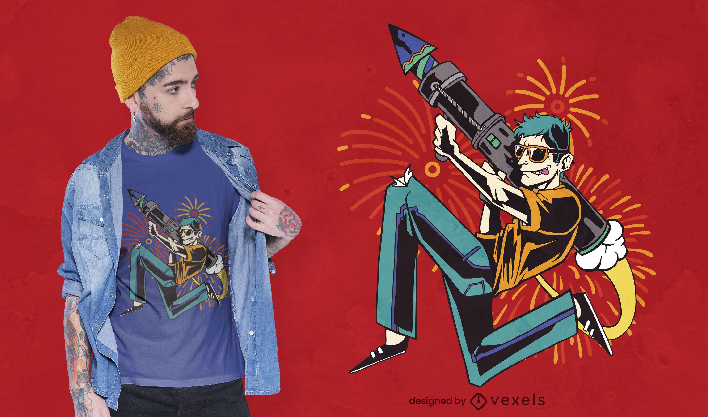 Fireworks Launcher t-shirt design