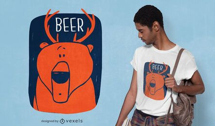 Bear deer t-shirt design